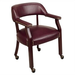 Traditional Arm Guest Chair Casters