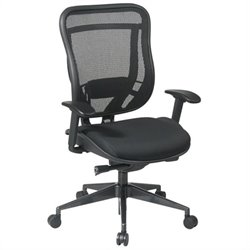 High Back Office Chair in Black Gunmetal