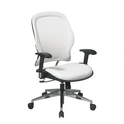 White Vinyl Managers Office Chair