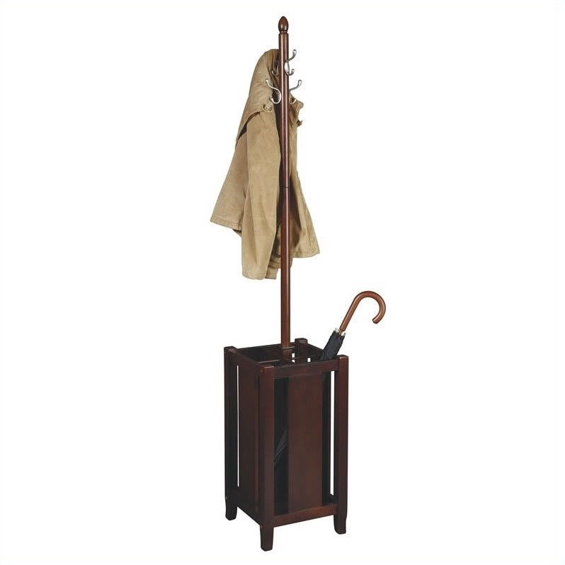 Coat Rack in Merlot