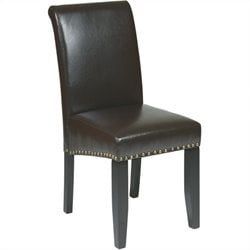 Office Star Metro Parsons Nail Head Dining Chair in Espresso