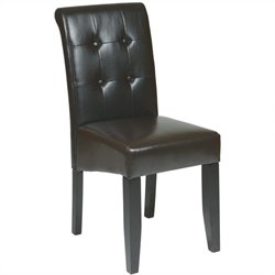 Button-Back Parsons Dining Chair in Espresso