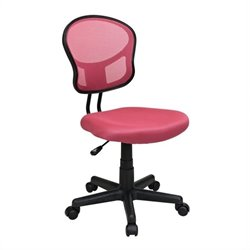 Mesh Task Office Chair in Pink