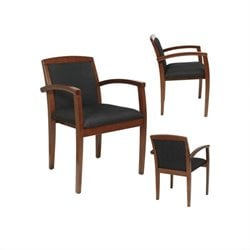 Guest Chair in Mahogany Black (Set of 2)
