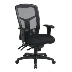 High Back Managers Office Chair with 5 lever Multi Function Control in Titanium Finish