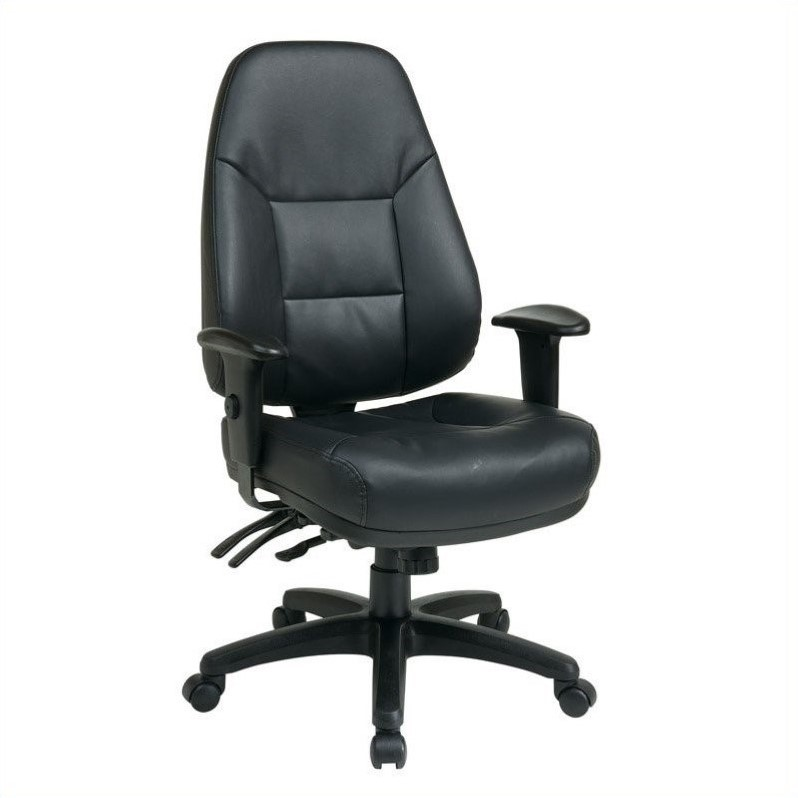 high back eco leather office chair in black ec4350 ec3