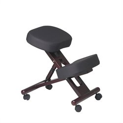 Ergonomic Wood Knee Office Chair in Mahogany
