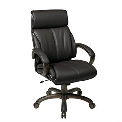 Executive Espresso Eco Leather Office Chair