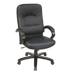 Eco Leather High Back Office Chair in Black