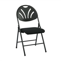 Set of 4 Plastic Folding Chair in Black