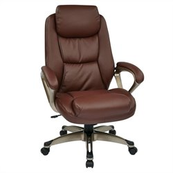 Eco Leather Office Chair in Cocoa and Wine
