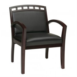 Mahogany Finish Leg Guest Chair