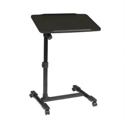 Adjustable Top Mobile Laptop Cart in Black