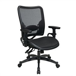 Ergonomics AirGrid Seat and Back Office Chair in Black