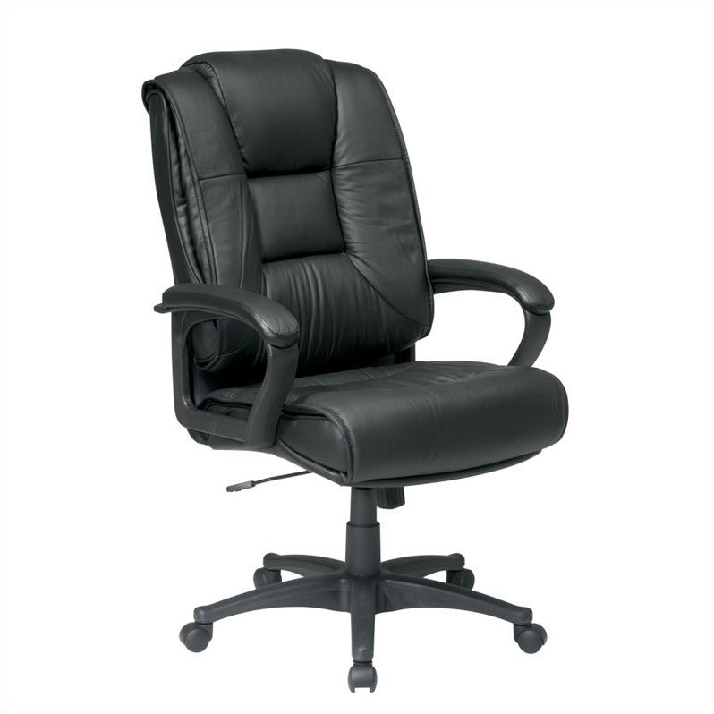 Deluxe High Back Leather Office Chair
