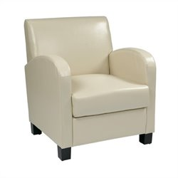Eco Leather Club Chair in Ivory