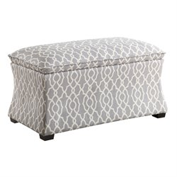 Office Star Ave Six Storage Ottoman in Abby Geo Gray