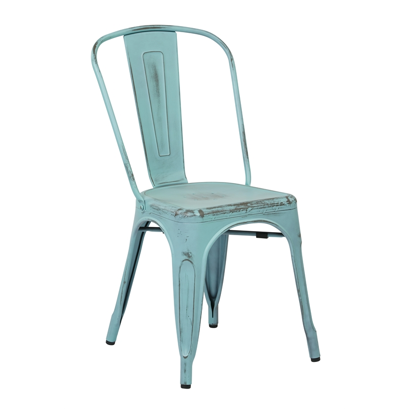 Metal Dining Chair in Antique Sky Blue Set of 2  : 469513 2 L from www.cymax.com size 800 x 800 jpeg 31kB