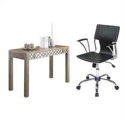 Writing Desk and Dorado Vinyl Office Chair