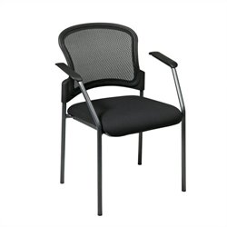 Contour Back Visitors Guest Chair with Arms in Titanium