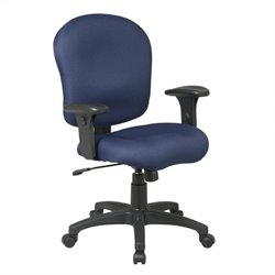 Task Office Chair with Saddle Seat and Adjustable Arms