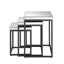3 Piece Square Mirror Nesting Tables