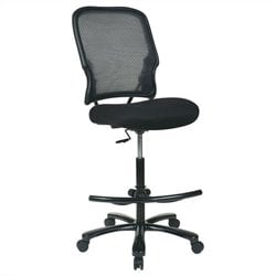 AirGrid Back with Mesh Drafting Chair in Black