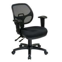 Ergonomic Task Office Chair with Adjustable Arms in Coal