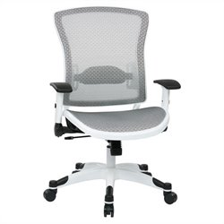 Managers Office Chair with Padded Mesh Seat in White