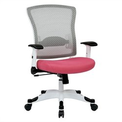 White Frame Managers Office Chair in Pink