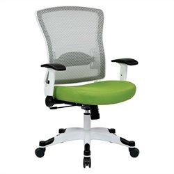 White Frame Managers Office Chair in Green
