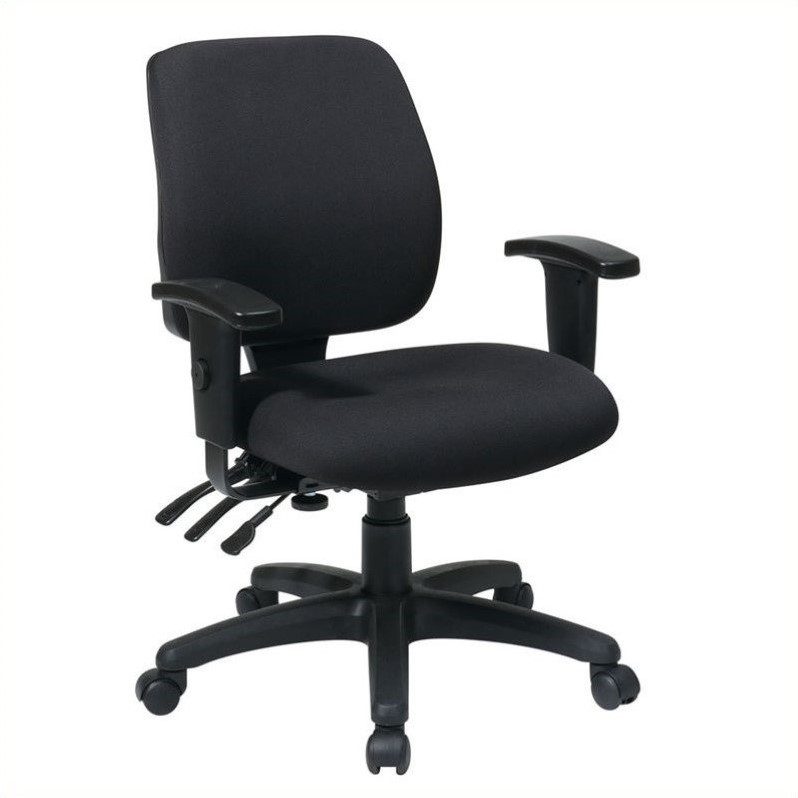 Mid Back Dual Function Ergonomic Office Chair in Coal