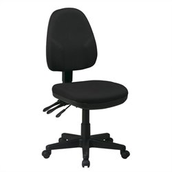 Dual Function Ergonomic Office Chair in Black