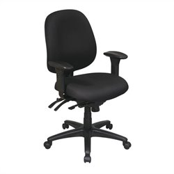 Mid Back Multi Function Ergonomics Office Chair in Black