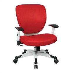 Office Chair with Padded Mesh Seat and Back in Red