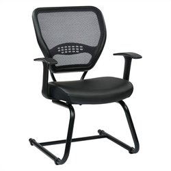 Air Grid Back Guest Chair in Black