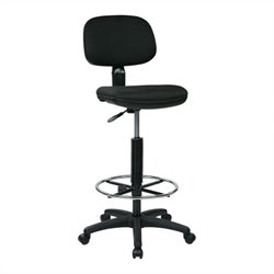 Sculptured Back Drafting Chair in Black