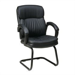 Eco Leather Guest Chair with Padded Arms
