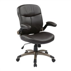 Mid Back Eco Leather Office Chair in Espresso