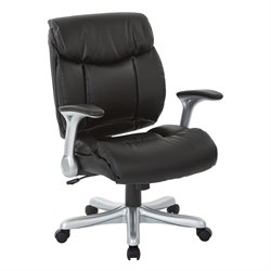 Eco Leather Office Chair in Silver and Black