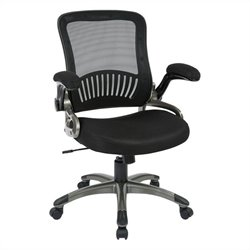Screen Back and Mesh Seat Office Chair in Black