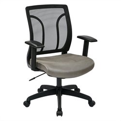 Screen Back Office Chair with Mesh Seat in Grey