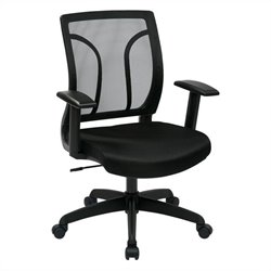 Screen Back Office Chair with Mesh Seat in Black