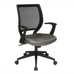 Screen Back Task Office Chair with T Arms in Grey