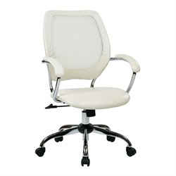 Office Star Work Smart Screen Back Office Chair in White