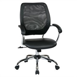 Designer Screen Back Managers Office Chair in Black