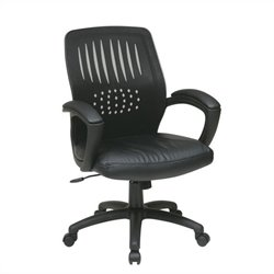 Screen Back Contoured Shell Office Chair in Black