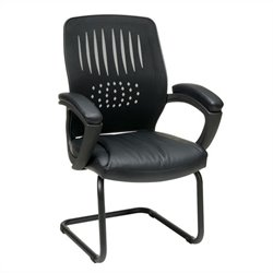 Screen Back Guest Chair in Black