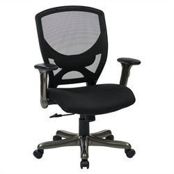 Woven Mesh Back Office Chair in Black