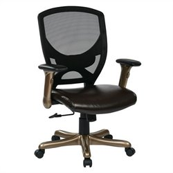 Woven Mesh Back Office Chair in Cocoa and Black